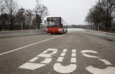 HOV-busbaan tijdelijk dicht