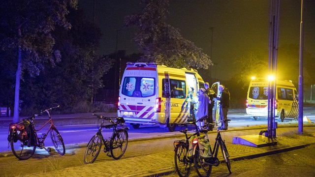 Fietsster gewond valpartij